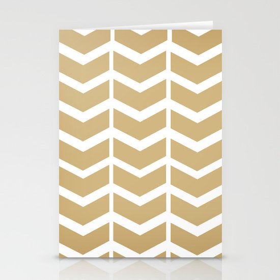 golden chevron Stationery Cards