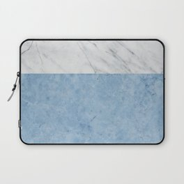 Porcelain blue and white marble Laptop Sleeve