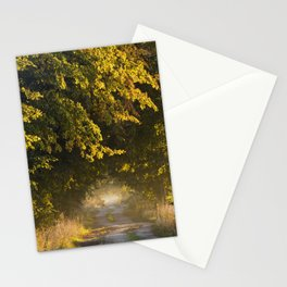Alley of lime trees in Autumn #2 Stationery Cards