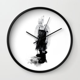 Little warrior - Petite guerrière Wall Clock