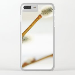 Willow branch with catkins Clear iPhone Case