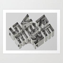 Stuck in Reverse Art Print