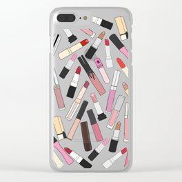 Lipstick Party - Dark Clear iPhone Case