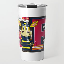 F is for Fireman Travel Mug