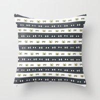 haikyuu Throw Pillows featuring Haikyuu!! Fukurodani Bows by InkyThoughts