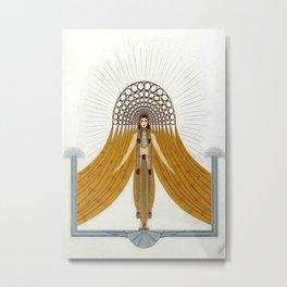 "Art Deco Oriental Design ""Café Foujita"" Metal Print"