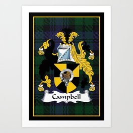 Campbell Clan Scottish Coat Of Arms And Crest Art Print