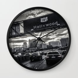 Homebound On The 101 North Wall Clock