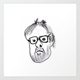 My 12yo niece drew this portrait of me. Art Print