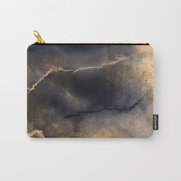 Thunder Watercolor Galaxy Marbled Night Carry-All Pouch