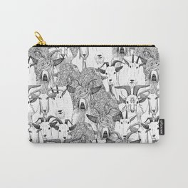 just goats black white Carry-All Pouch