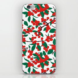 Holiday Winterberries + Branches iPhone Skin