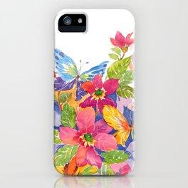 floral watercolor iPhone Case