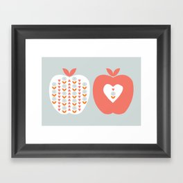 Scandi Apples Framed Art Print