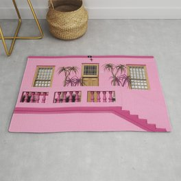 Cape Malay pink house Rug
