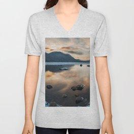 Lake reflections Unisex V-Neck