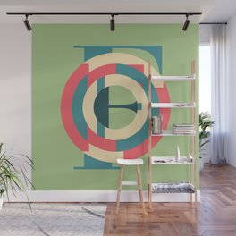 Typography series #F Wall Mural