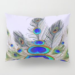GREEN PEACOCK FEATHER & JEWELS #2 Pillow Sham