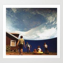 Planet Suburbia Art Print