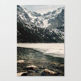 Morskie Oko In Snow Canvas Print