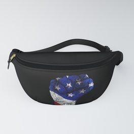 America Fist American Flag graphic Gift for USA Patriots Fanny Pack
