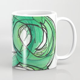 Nature's Lever Modern Watercolor Painting Coffee Mug