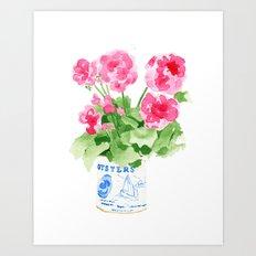 Potted Geranium no. 2 Art Print