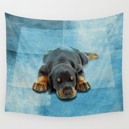 Dobermann Puppy - Doberman Pinscher Wall Tapestry