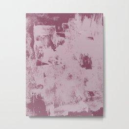Minimal plum abstract by Alyssa Hamilton Art Metal Print