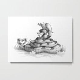 Valentine Snake Metal Print
