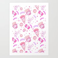 junk food Art Prints featuring JUNK by bb0t