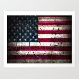 USA in Colour Art Print