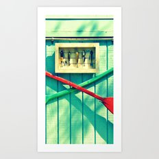 Boat Oars Panel 2 (3 pieces to make full photograph) Art Print