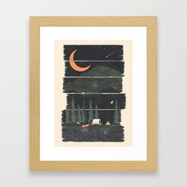 Wish I Was Camping... Framed Art Print