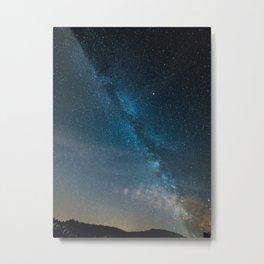 Blue Milky Way Galaxy Stars At Night Metal Print