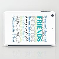winnie the pooh iPad Cases featuring Winnie the Pooh Friendship Quote - Blues & Greens by Jaydot Creative