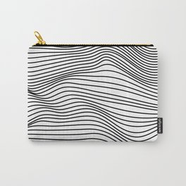Abstract Wave Lines Carry-All Pouch
