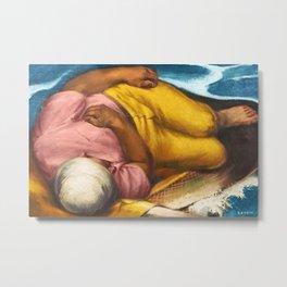 Italian American Masterpiece 'Fisherman's Dream' by Alfred de Giorgio Crimi Metal Print