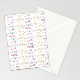 make art not war-anti-war,pacifist,pacifism,art,artist,arte,paz,humanities Stationery Cards