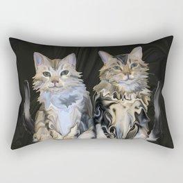Marble Meows Rectangular Pillow