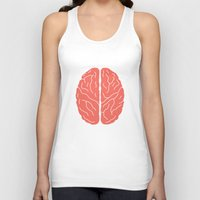 brain Tank Tops featuring Brain by Yellow Chair Design