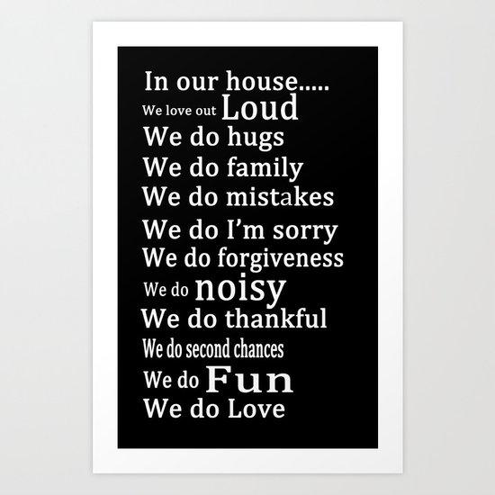 Our house 2 Art Print