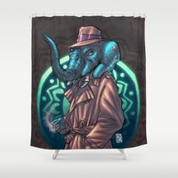 ganesh Shower Curtains featuring Ganesh by Renato Guerra