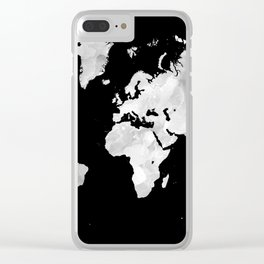 Design 70 world map Clear iPhone Case