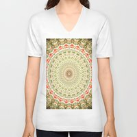 carnival V-neck T-shirts featuring Carnival by Jane Lacey Smith
