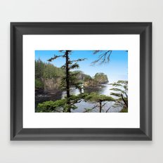 Rock on the Water Framed Art Print