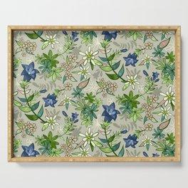 Alpine Flowers - Gentian, Edelweiss Serving Tray