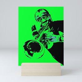 Teal Dreams Of Louis - Louie - Daniel Armstrong Satchmo - Satch - Pops - Pop Sketch-Art 774 Mini Art Print