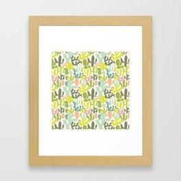 Cactus Garden Framed Art Print