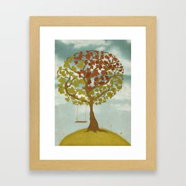 All Seasons Tree Framed Art Print